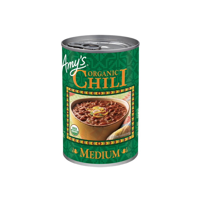 the best canned chilli is ann organic canned chilli which is Amy's Organic Chili
