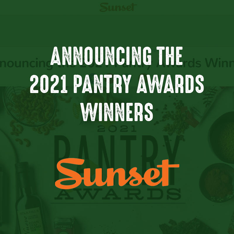 Announcing the 2021 Pantry Awards Winners - Sunset